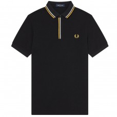 Tipped Placket Polo Shirt PRETO