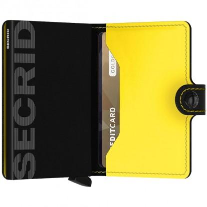 Miniwallet Matte Black & Yellow PRETO