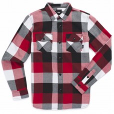 BY BOX FLANNEL BOYS chili pepper VERMELHO