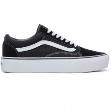 UA OLD SKOOL PLATFORM Black/White PRETO