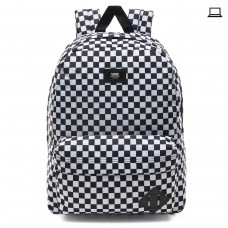 MN OLD SKOOL III BACKPACK Black/White Check PRETO